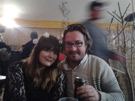 The beautiful Amanda Bevan (my girlfriend) and yours truly, inside the Falls Festival VIP tent. New Year's Eve 2012.