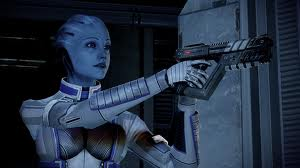 BOLD AND THE BLUE-TIFUL: An Asari member of your team, Liara T'Soni.