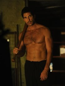 GOING BATTY: Dylan McDermott is frequently bare-chested in American Horror Story: Murder House.