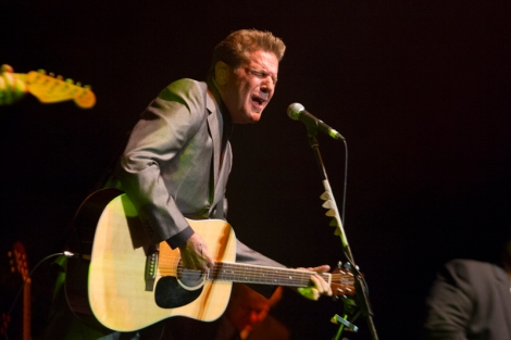 EAGLE ROCK: Glenn Frey on stage at Newcastle Civic Theatre, Thursday, February 28, 2013. Picture by Kevin Bull.