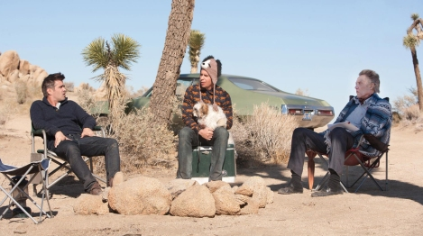 WAITING FOR COSTELLO: Farrell, Rockwell and Walken in Seven Psychopaths.