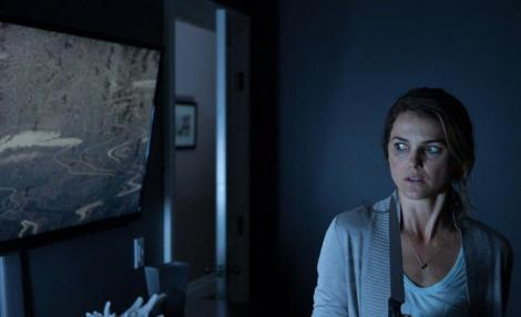 CHEAP THRILLS: Keri Russell stars in the sci-fi spookfest Dark Skies.