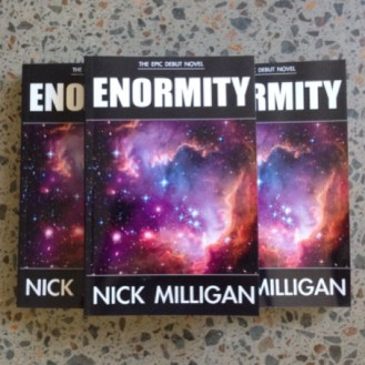OUT NOW: Enormity is available in paperback at Abicus on Darby Street, Newcastle.