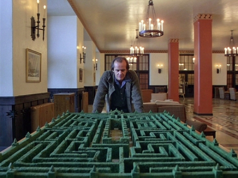 INTO THE MAZE: The labyrinth in The Shining did not feature in the book.
