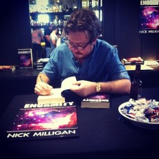 SIGN OF THE TIMES: Yours truly signing some books. Pic by my friend Miriam.