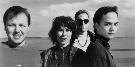 YOUNG AND NAIVE: The Pixies circa 1989, with Frank Black far left.