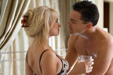 SEX AND MONEY: Margot Robbie and DiCaprio both give brave performances.