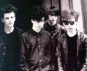 Jesus and Mary Chain circa 1985, with Gillespie pictured second from right.