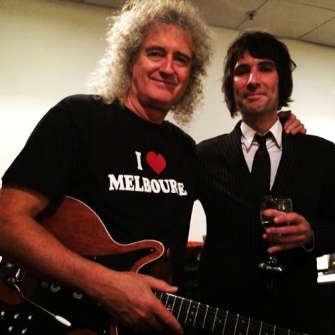 Sir Brian May meets Davey Lane.